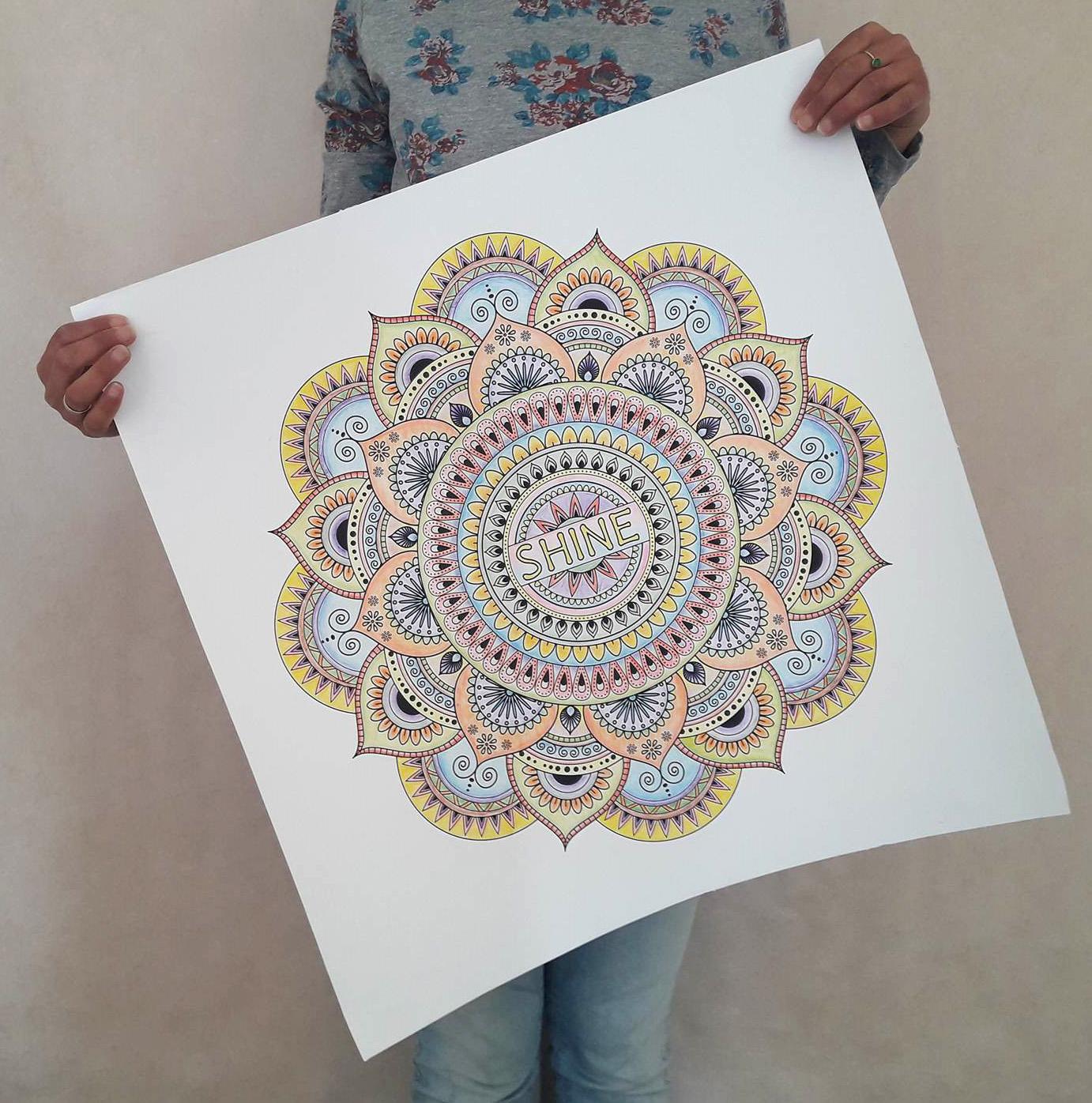 Rachelsfinelines $ 2290 Usd Mandala Poster Home Decor Do It