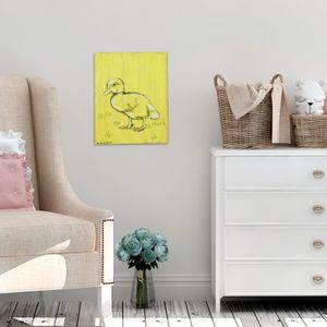 Duckling Wood Print, Woodland Animals, Nursery Wall Art, Rustic Nursery Decor, Children Art, Woodland Nursery, Kids Room