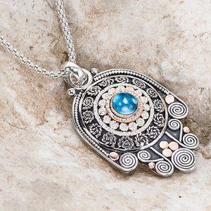 Evil Eye Necklace, Hamsa Hand, Hand Necklace, Hamsa Necklace, Hamsa Charm, Gold Necklace, Hamsa Jewelry, Evil Eye Gifts