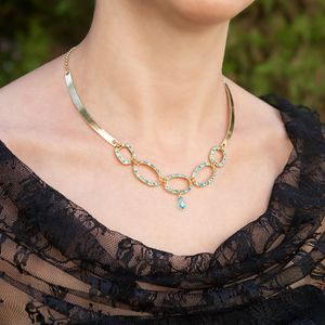 Blue mother of the bride jewelry, Elegant mother of the bride jewelry, Mother of the bride necklace, Necklace for mom