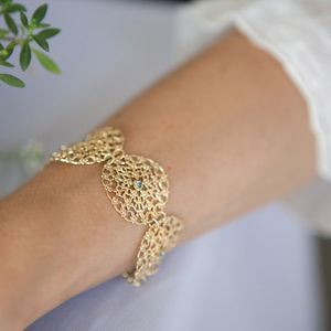Gold lace bracelet, Statement lace bracelet, Gold filigree bracelet, Gold cuff bracelet, Lace cuff bracelet, Statement bracelet