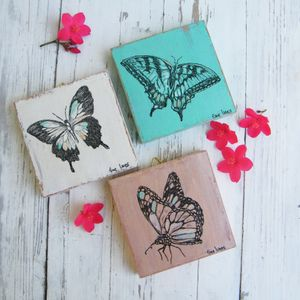 Bedroom Wall Decor, Butterflies Prints, Home Decor, Set of 3 prints, Butterfly Print, Butterfly Wall Hanging, Gift For Her