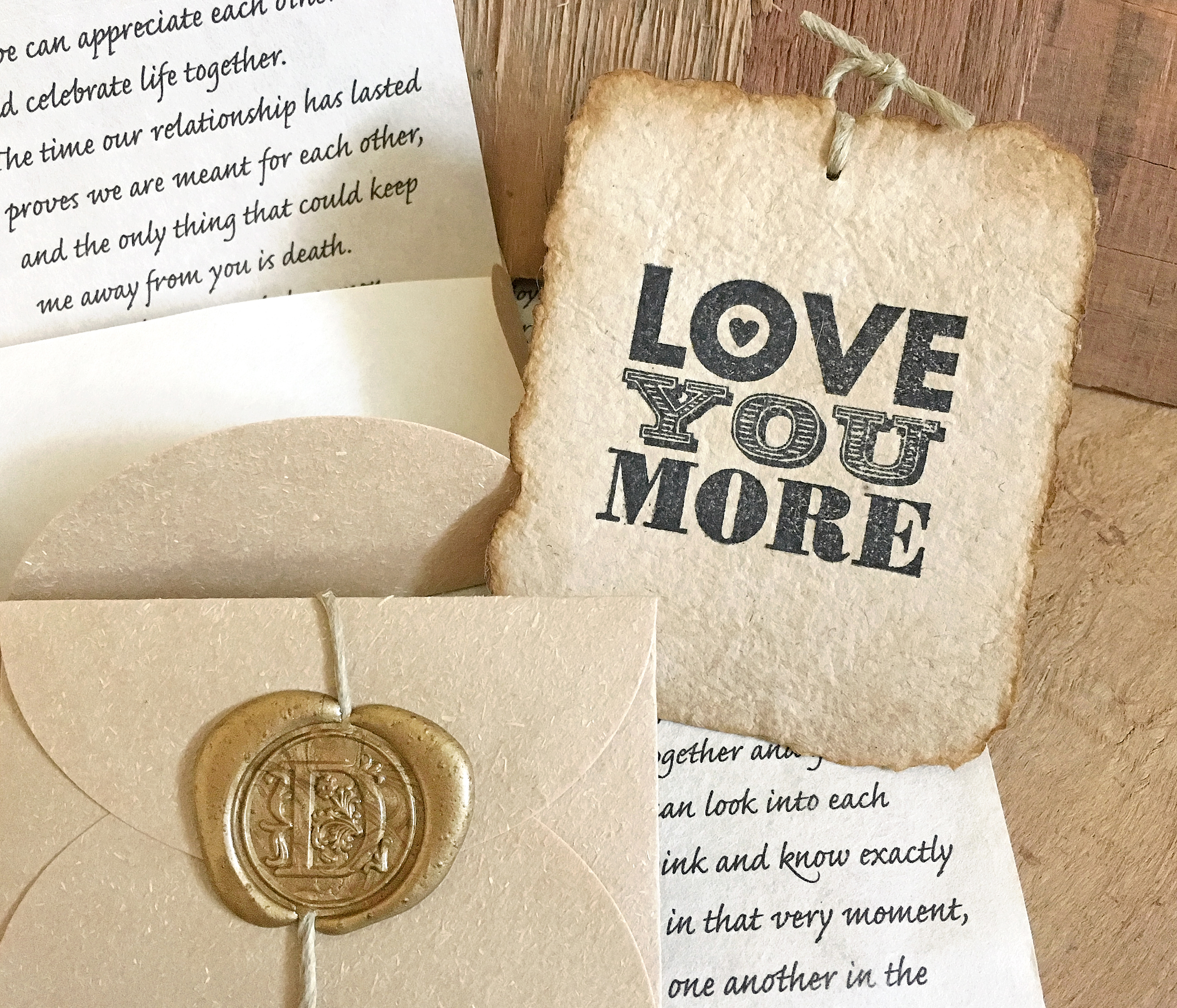First anniversary gift for wife, Love you more, Personalized paper gift idea for him, Love Message in a box, Customized love letter