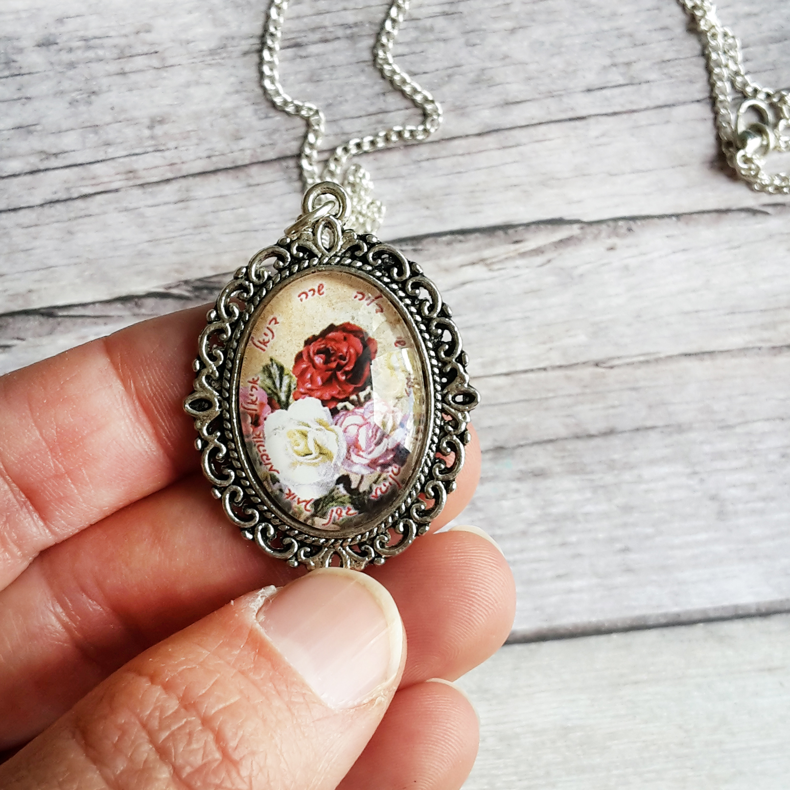 Personalized jewelry personalized gift for grandma personalized personalized jewelry personalized gift for grandma personalized necklace for mom custom pendant charm glass pendant vintage rose jewelry roses aloadofball Images