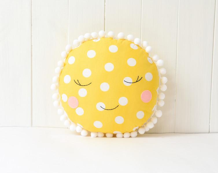 Happy sun Nursery / Kids Rooms Pillow