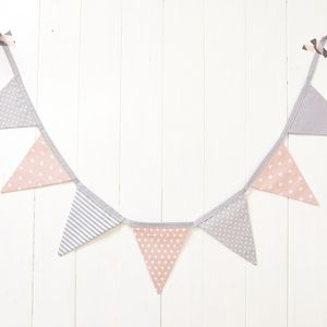 Seven flags Cotton Fabric Bunting Birthday Party Decoration Wedding Bunting Decor Banner Garland Decoration