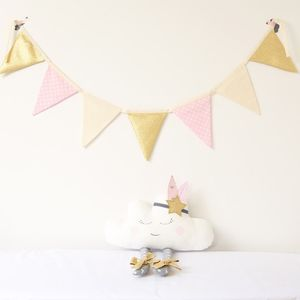 Seven flags Cotton Fabric Bunting Birthday Party Decoration