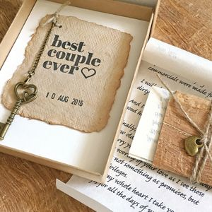 Eco friendly gift Idea, Handmade Paper anniversary card, Rustic gift for your loved one, Personalized love letter, Vintage style gift