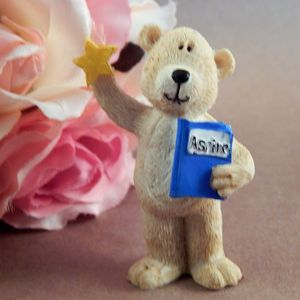 Teddy Bear Figurine School Bear Aspire Gold Star Back to School Reach for the Stars Inspiration Home Decor Collectible Giftware