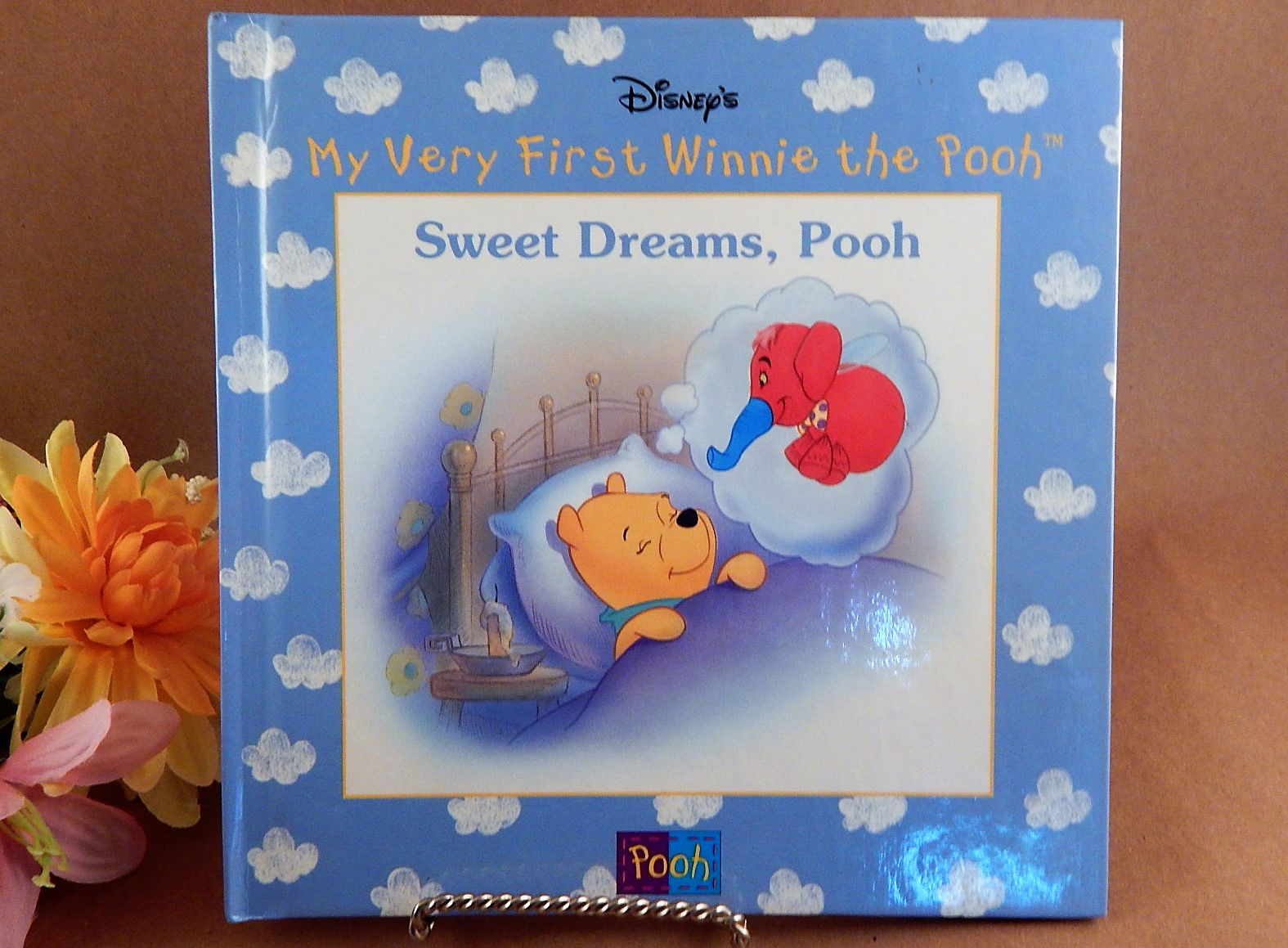 Book Sweet Dreams Pooh Disneys My Very First Winnie the Pooh Color Illustrated Animal Picture Story Vintage 1998 Hardback Gift Book for Children