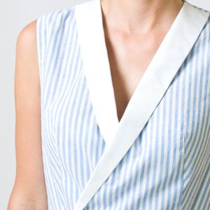 Sleevless A line V eck casual dress Knee length