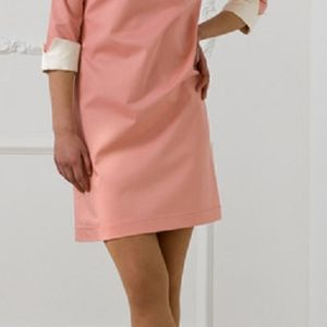 60s retro style long sleeves above the knee dress