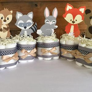 Woodland Animals Toppers, Woodland Cake Toppers, Woodland Decorations