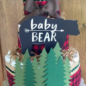 Lumberjack diaper cake, Lumberjack Shower, Party Supply, Table Centerpiece