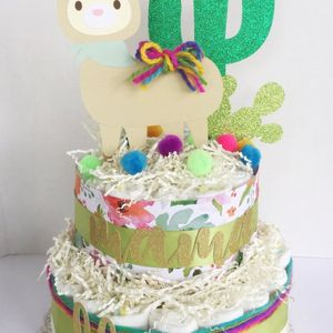 Llama Baby Shower, Llama Diaper Cakes, Fiesta Baby Shower