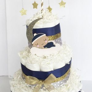 Twinkle Twinkle Little Star Diaper Cake, Twinkle Twinkle Little Star Decorations, Star Party Supply