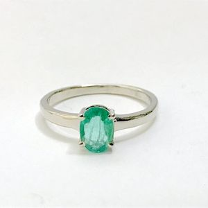 100% NATURAL EMERALD RING ,oval shape , May birthstone , perfect gift for loved ones , silver emerald ring , emerald cut ,