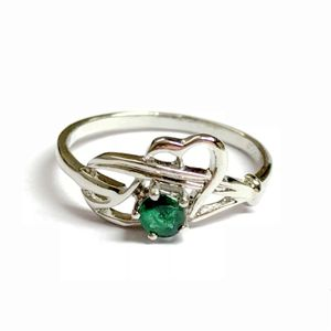 NATURAL EMERALD DAINTY Ring , May Birthstone , Green Beryl , emerald engagement ring ,Promise Ring for her .....