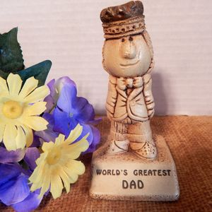 Fathers Day Gift Trophy World Greatest Day Figurine Vintage 1978 Collectible