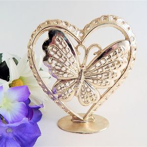 Post Earring Tree Jewelry Organizer Vintage 1970s Torino Gold Metal Heart and Butterfly Earring Stand Gift for Her