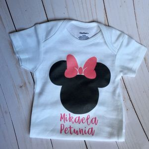 Minnie Mouse Onesie, Minnie Mouse Baby