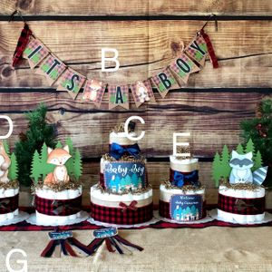 Lumberjack Baby Shower Kit