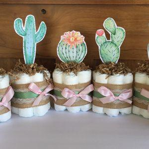 Desert Cactus Diaper Cakes