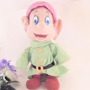 Dopey Dwarf Doll Disney Stuffed Fleece Toy Vintage 1993 Snow White and 7 Dwarfs Disneyana