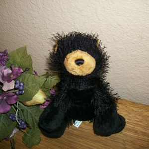 Ganz Webkinz Black Grizzly Bear Plush Stuffed Animal Collectible Toy no code