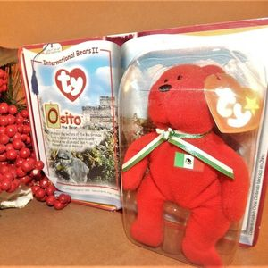"Bear Ty 5"" Beanie Baby Osito International II Bear Collectible McDonalds 2000 Toy NIB"