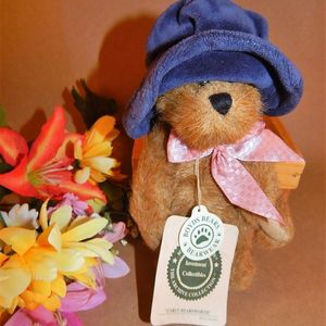 "Bear BOYDS Carly Bearsworth 6"" Stuffed Plush Animal Blue Hat Retired 919801 Vintage 1990s"