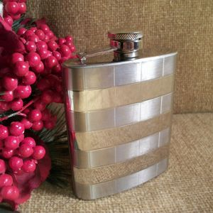Stainless Steel Hip Flask Five Ounce Hinged Screw Top Demijohn Portable Barware Travel Accessory