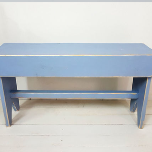 Blue Wooden stool rustic style