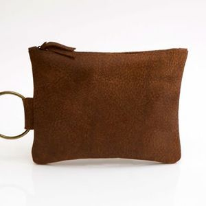 Stylish Suede Leather Clutch