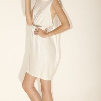 Short, sleevless, halter bridal dress