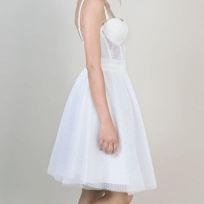 Sweetheart A Line short Bridal Dress