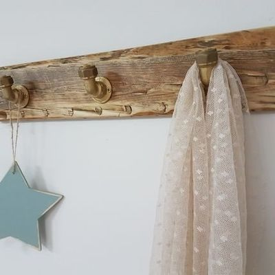Coat Rack, repurposed wood, OOAK