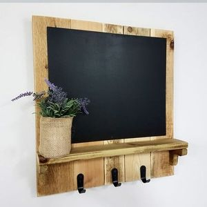 Wall Chalk board Shelf Rack