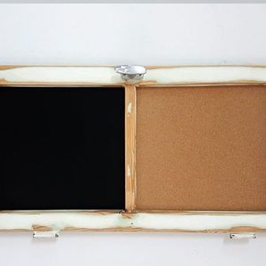 Rustic wall chalk board repurposed wood