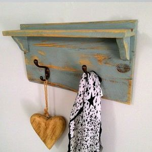 Wall Shelf Rack, Repurposed wood, OOAK