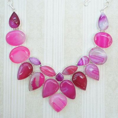 Pink Bib Necklaces