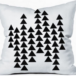 Black & White geo print, Decorative pillow