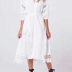 Boho Midi A-Line alternative bridal dress