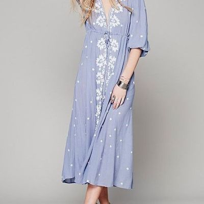 Light blue long boho dress/tunic
