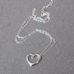 Open Heart Sterling Silver pendant and Necklace