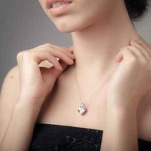 Adorable sterling silver heart pendant with matching sterling silver necklace